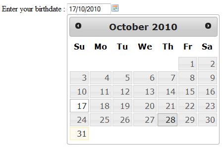 Creating a Calendar or Date Picker using JQuery   edwin's blog
