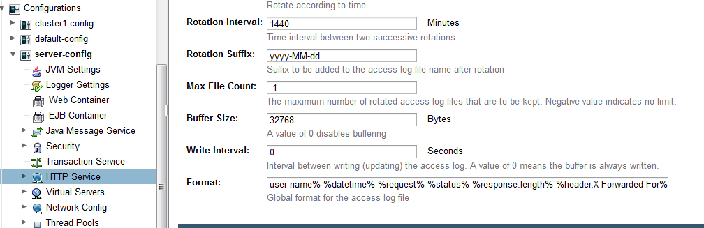 How to Log X-Forwarded-For HTTP Header on Glassfish