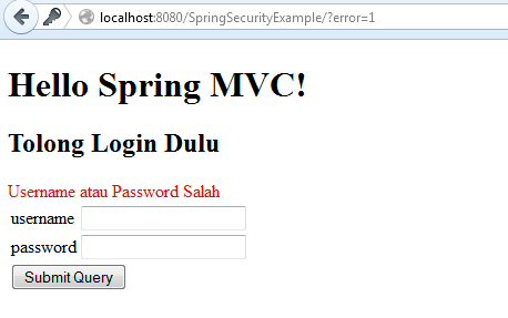 springsecurity login gagal